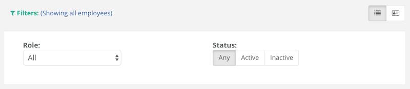 Employee Status Filtering