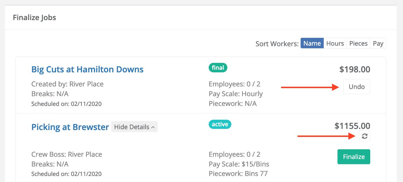 Bulk-finalize jobs