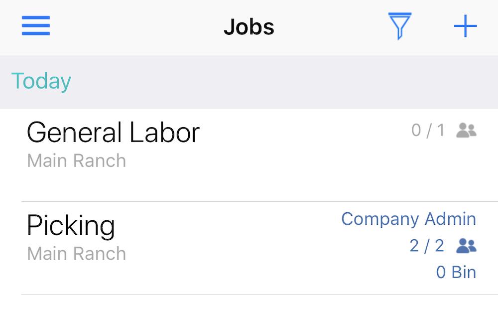 Mobile Active Jobs List