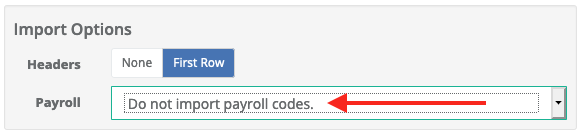 Omit payroll codes