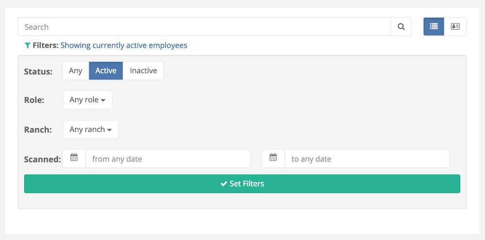 Employee Filtering