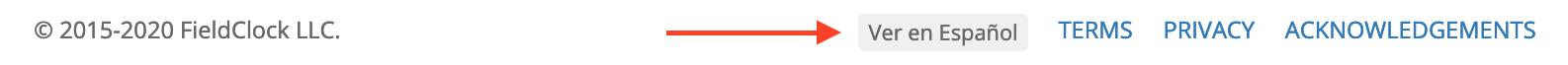 Site Language Button