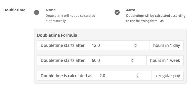Doubletime formula