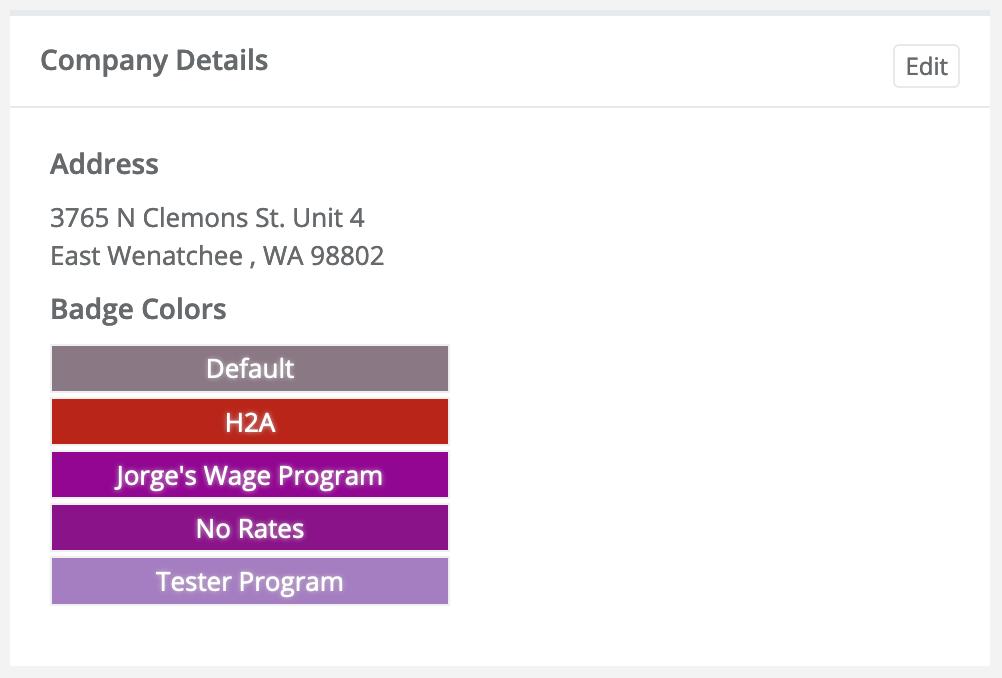Badge Color Choice